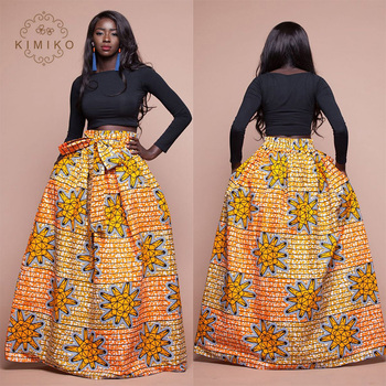 d40804d674 Oem Service Supply Customized Print African Clothing Maxi Skirt ...