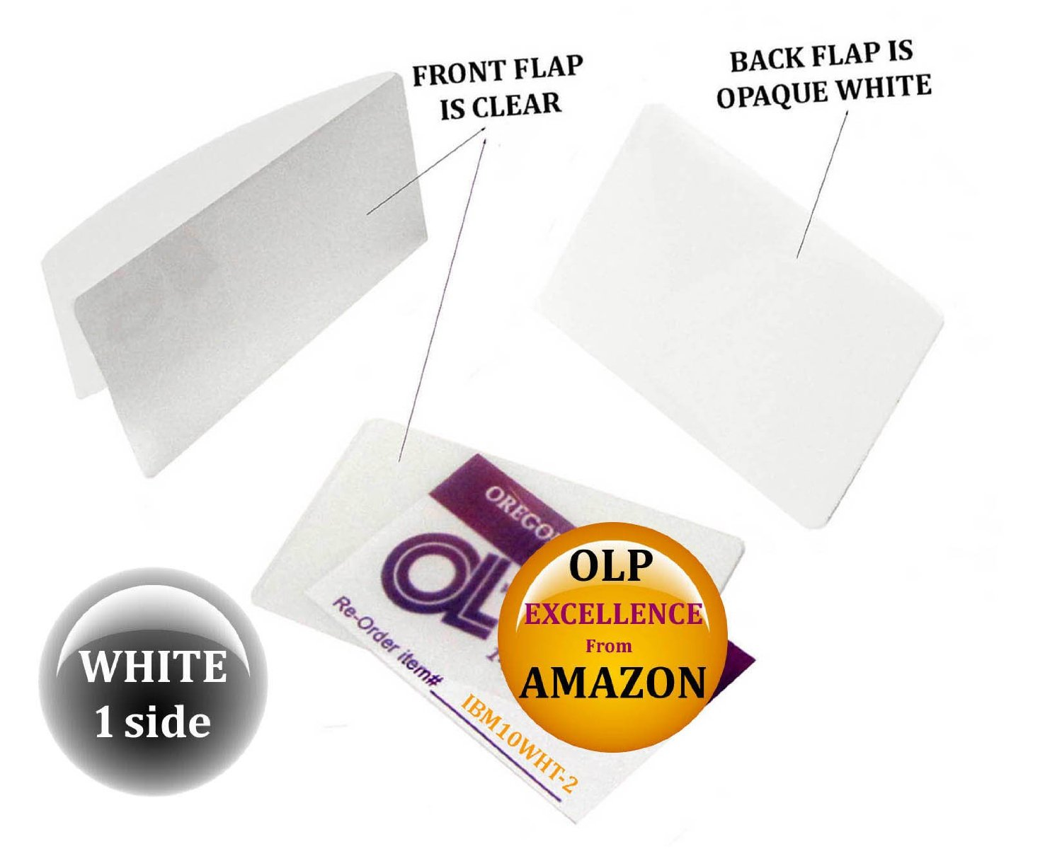 Qty 200 White/Clear IBM Card Laminating Pouches 2-5/16 x 3-1/4 by LAM-IT-ALL