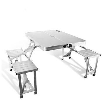 Aluminum folding portable picnic camping set table for 10 person picnic table