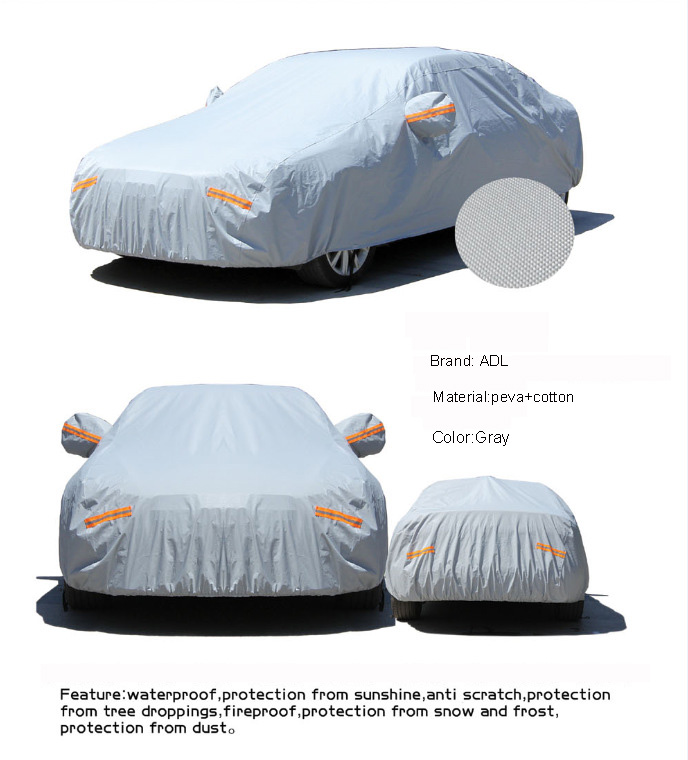 Universal custom oxford Outdoor Waterdichte Anti-stof Zonneplek Auto Cover Past Meest Cars