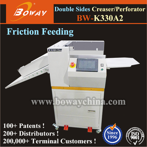 No need flip side office binding system auto paper concave convex Perforating Creasing Machine
