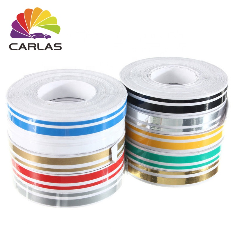 CARLAS <strong>Hot</strong> Selling <strong>Car</strong> Body <strong>Stickers</strong> Stripe Double Line <strong>Car</strong> Stripe Decoration Tape Decals <strong>Sticker</strong>