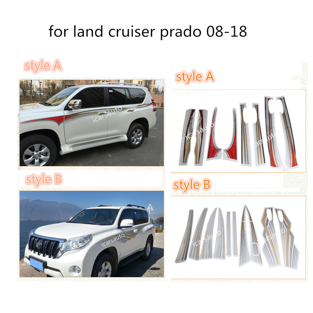 High quality body sticker for land cruiser prado fj150 fj120 grj150