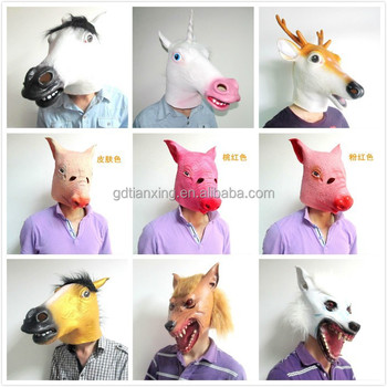 Latex Llama Masks Fancy Dress Party Animal Kingdom Overhead Mask ...