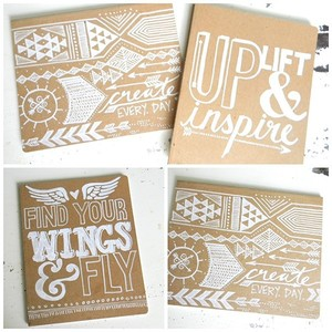 high quality custom recycled die-cut kraft notebook