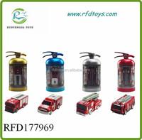 Plastic mini rc fire truck toys 4ch rc fire with light mini rc fire truck