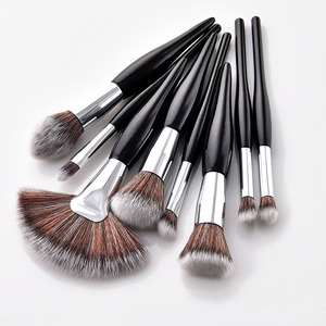8pcs professional make-up brush kits print your logo cosmetic brush