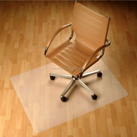 Factory direct sale antislip rubber 100%PP/PVC chair mat for office