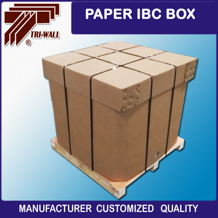 1000L Food grade Liquid Package Cardboard Box Paper IBC liquid IBC Box