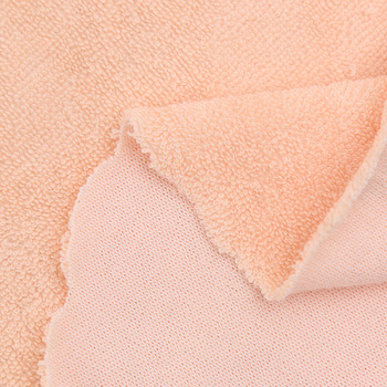 Custom knitted cotton polyester plain dyed terry fabric cloth