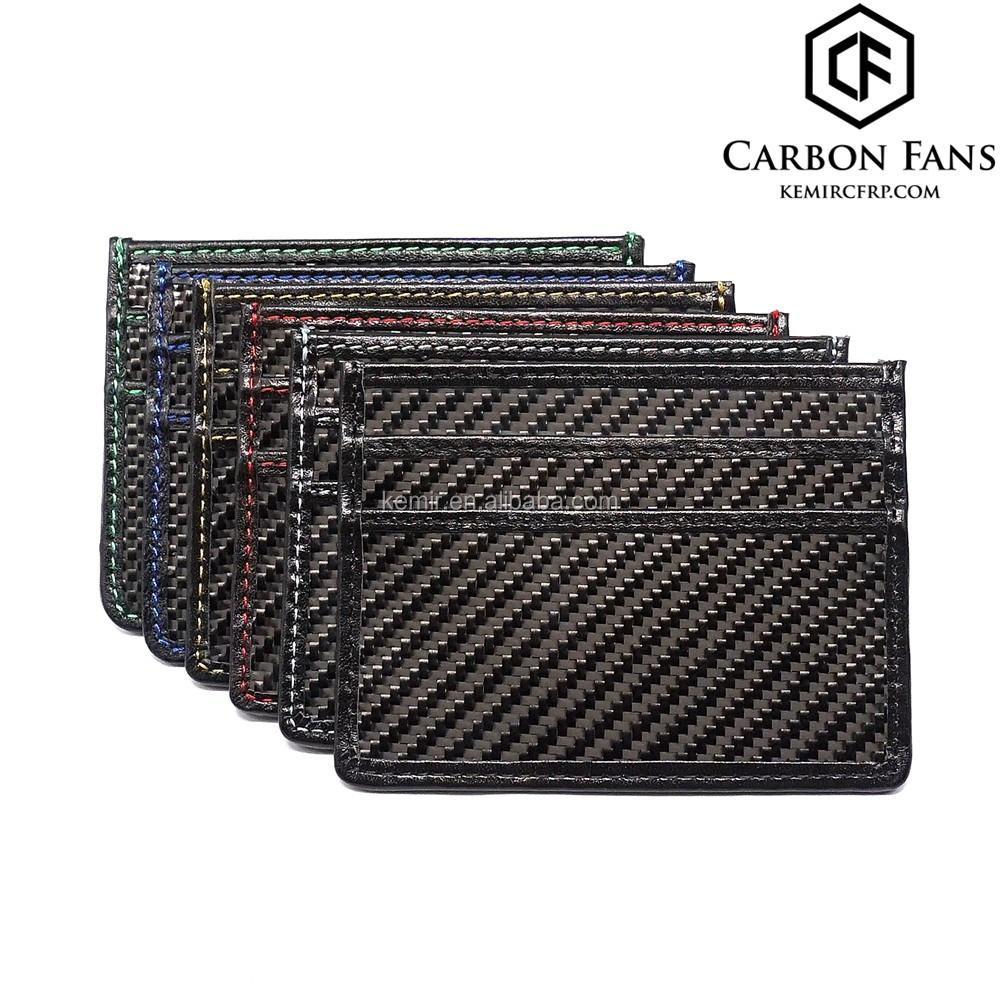 RFID block Real Carbon fiber credit card holder wallet for ...