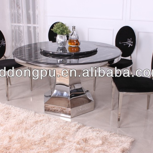 New Design Stainless Steel Dining Room Table Marble Table D30
