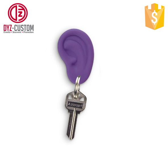 Ear Ring Keychain Kids Novelty Gift Mini Ear Shaped Silicone Key Chain e858865f7