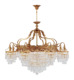 European style 16 light vintage brass crystal luxury chandelier lighting
