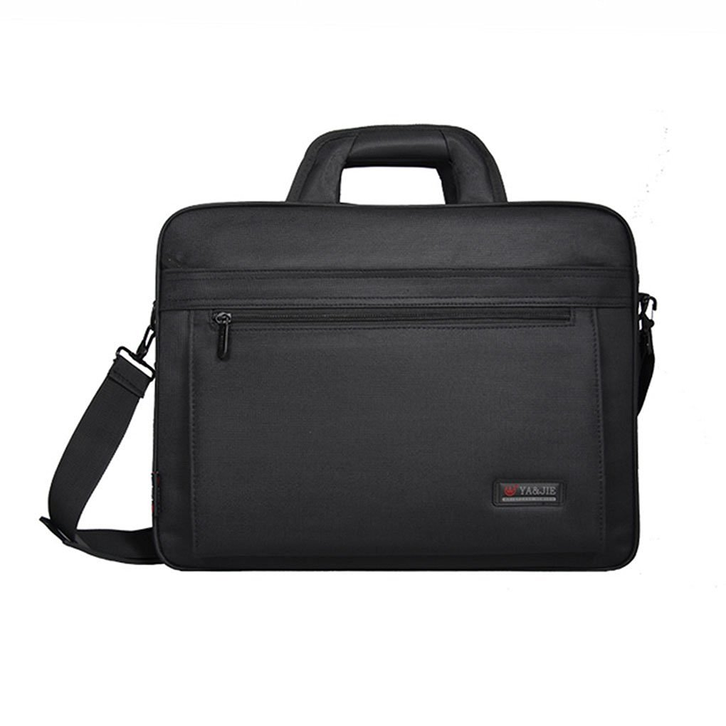 Slim Compact Lightweight 15/16 inch Adjustable Strap Computer Laptop/Notebook/Tablet/MacBook/iPad Handbag Messenger Shoulder Bag Business Briefcase Travel School Carrying Sleeve Case Tote (Black 16'')