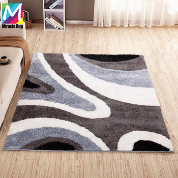 Factory Sale Plush Polyester Shaggy Rug Carpet For Living Room