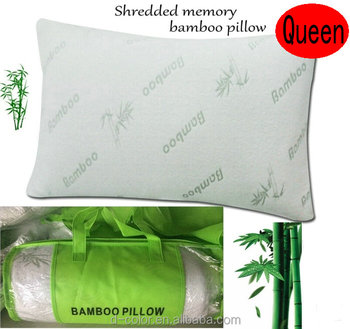 oem cheap bamboo fibre shredded memory foam pillow comfort hotel pillow gift pillow promotional bamboo pillow