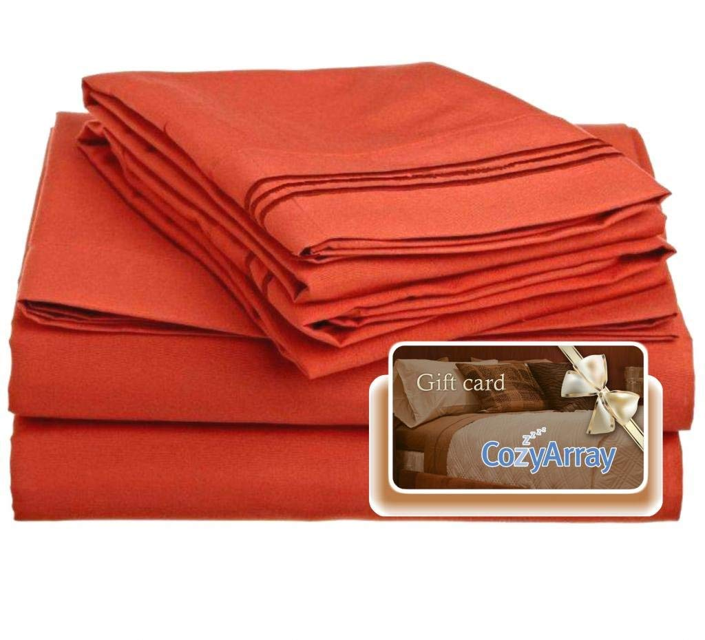 Clara Clark ® Premier 1800 Collection Bed Sheet Set, Includes a Free $5 Cozy  Array