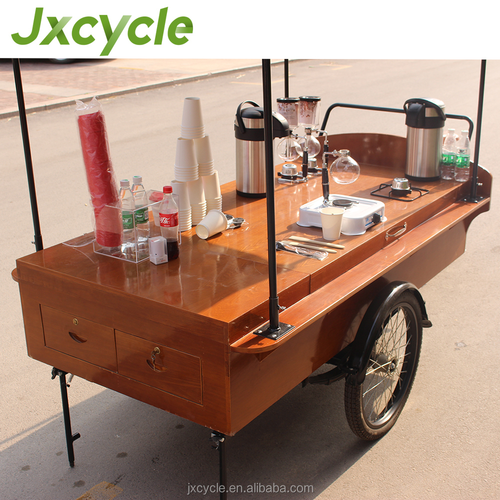 Street Coffee Serving Cart Fast Food Truck For Folding Electric Tricycle Ing Bikes Product On Alibaba