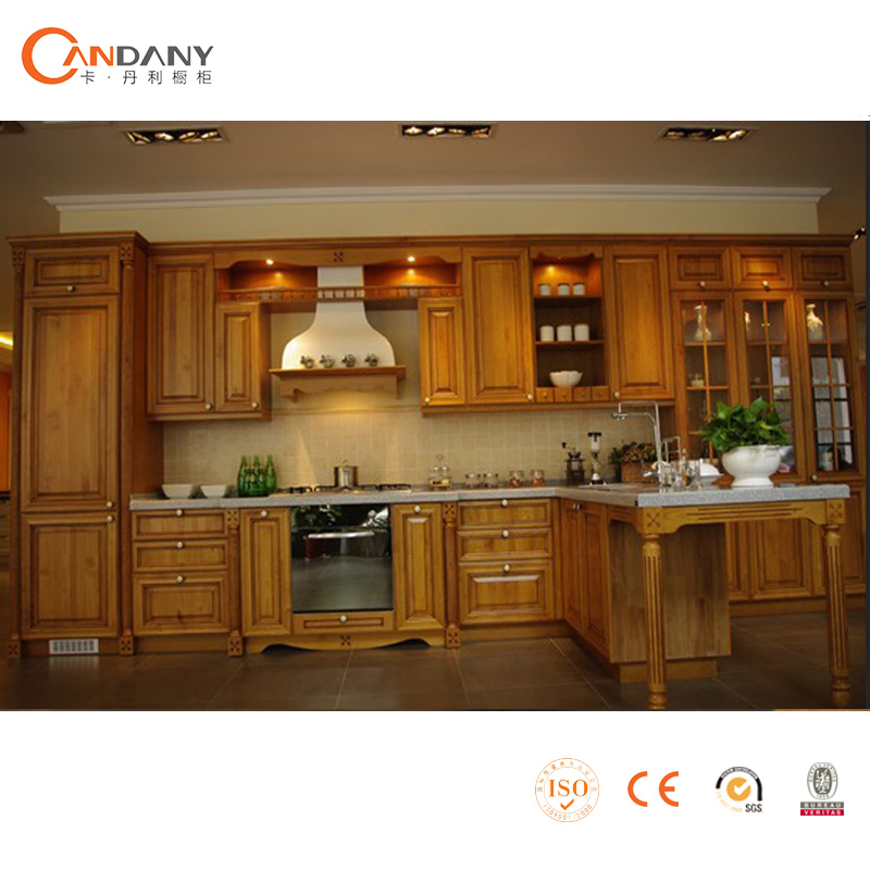 Selling Used Kitchen Cabinets: China Factory Supply Modular Solid Wood Kitchen Cabinet