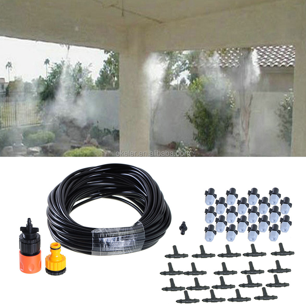 20m Hose 20 Plastic Sprinklers Farm Garden Irrigation System Misting Nozzle Watering Kits