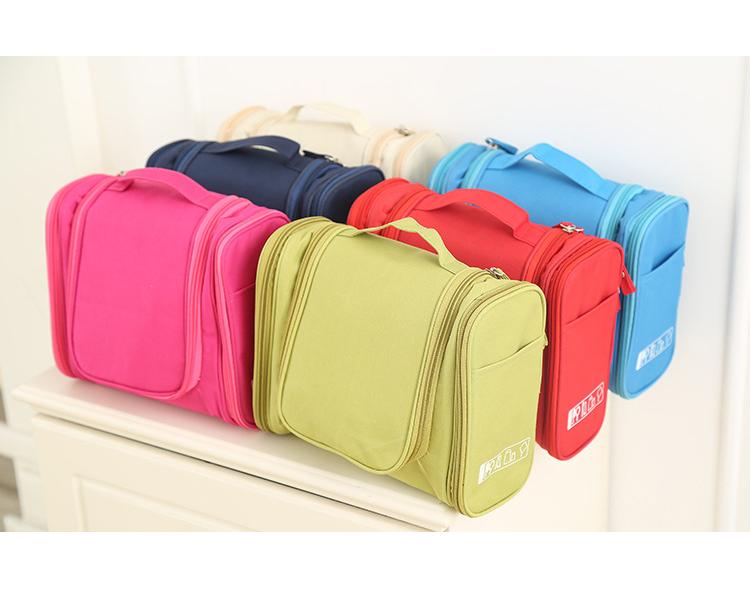 c1c7e3f73c3a Multifunctional travel kit make up bag cosmetic organizer wash essentials  elastic loops hanging waterproof travel toiletry