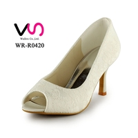 7.5cm nice lace bridal wedding shoes for women