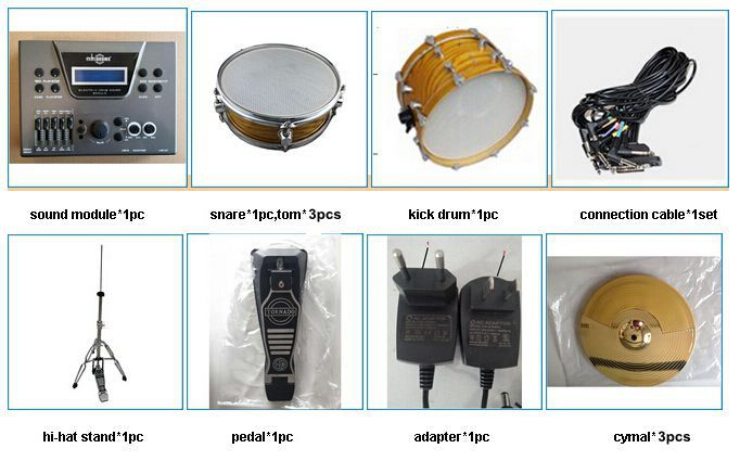 Electric Drum Set From China,Hot Sale Electronic Drum Kit,5 Pcs ...