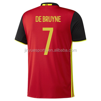 09f953edfe5 2018-2019 Thai quality cheap china customized soccer jersey De Bruyn  Belgium soccer team jersey