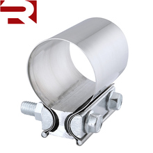"2.0"" 2.25"" 2.5"" 3.0"" 4.0"" Butt Joint Preformed Stainless Steel Exhaust Pipe Clamp"