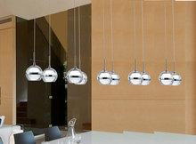 Moderní osvětlení do jídelny – 10 LED závěsných koulí na plošině