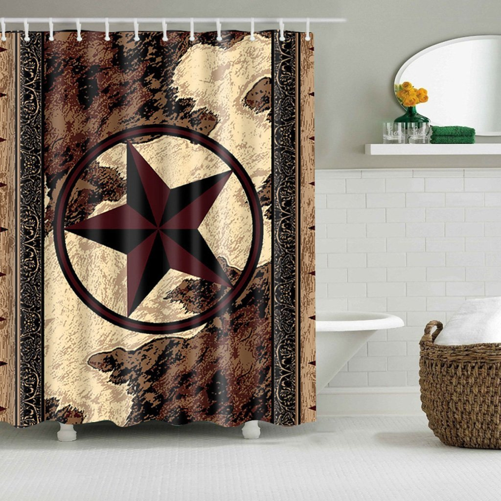 Get Quotations Usdepant Bath Western Texas Star Shower Curtains Bathroom Waterproof Polyester Fabric Set