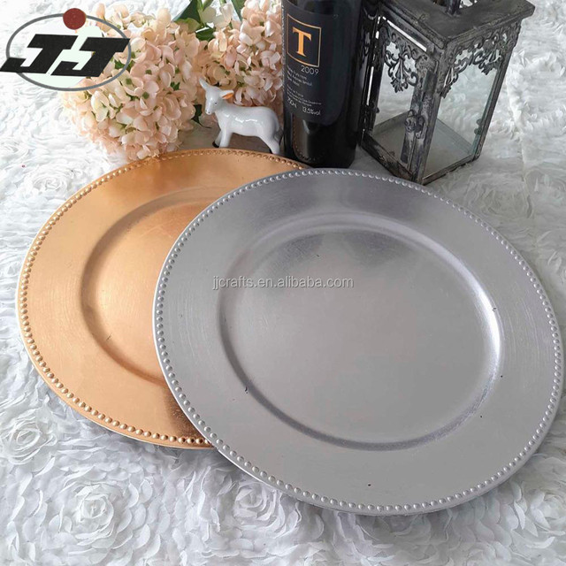 Beaded silver plastic charger plate & Buy Cheap China gold charger plates from india Products Find China ...