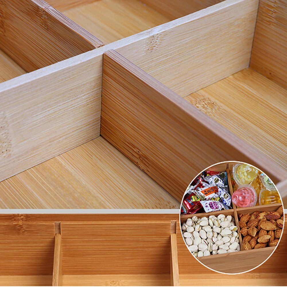 trend selling bamboo snack box custom bamboo box for multifunctional 3