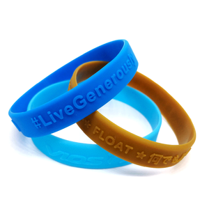 Eco Friendly 3D Logo Silicon Wristband Embossed