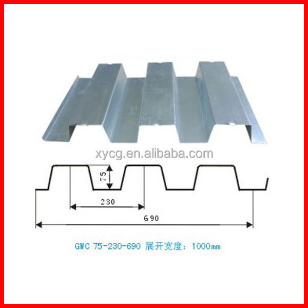Low cost metal floor decking for steel structure warehouse