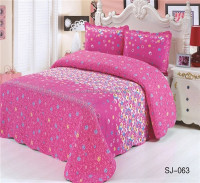 3-Piece Coverlet and Shams Set King Bedspreads And Quilts Cotton Flroal Printing