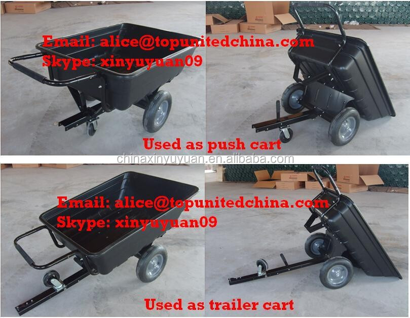 competitve price heavy duty farmer ATV dump trailers plastic yard trailer