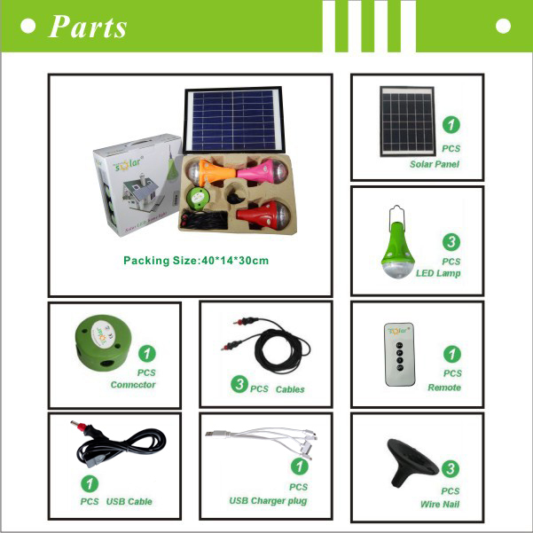 Portable Solar Light With Led Bulb And Solar Led Lighting Charged ...