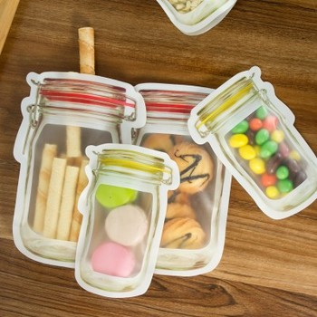 jar Stand-Up Zipper candy cookie Storage Bags