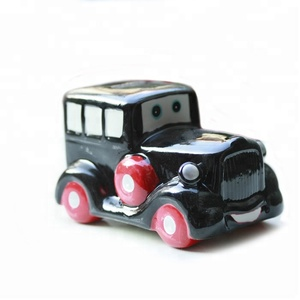 Stoneware Coin Bank Antique Toy Car Piggy Bank for Kids