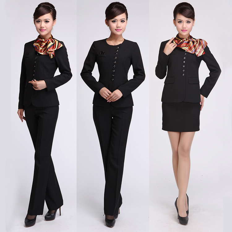 Formal bank uniform design for cashier or banker oem for Uniform spa sistemi per serramenti