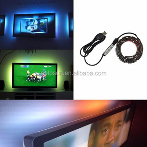 DC 5V RGB LED strip USB Color Changing waterproof TV PC PS4 Background light RGB 5050 SMD Tape lamp + remote control USB Cable