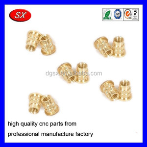 OEM auto part brass camera part insert CNC turning precision Metal Part