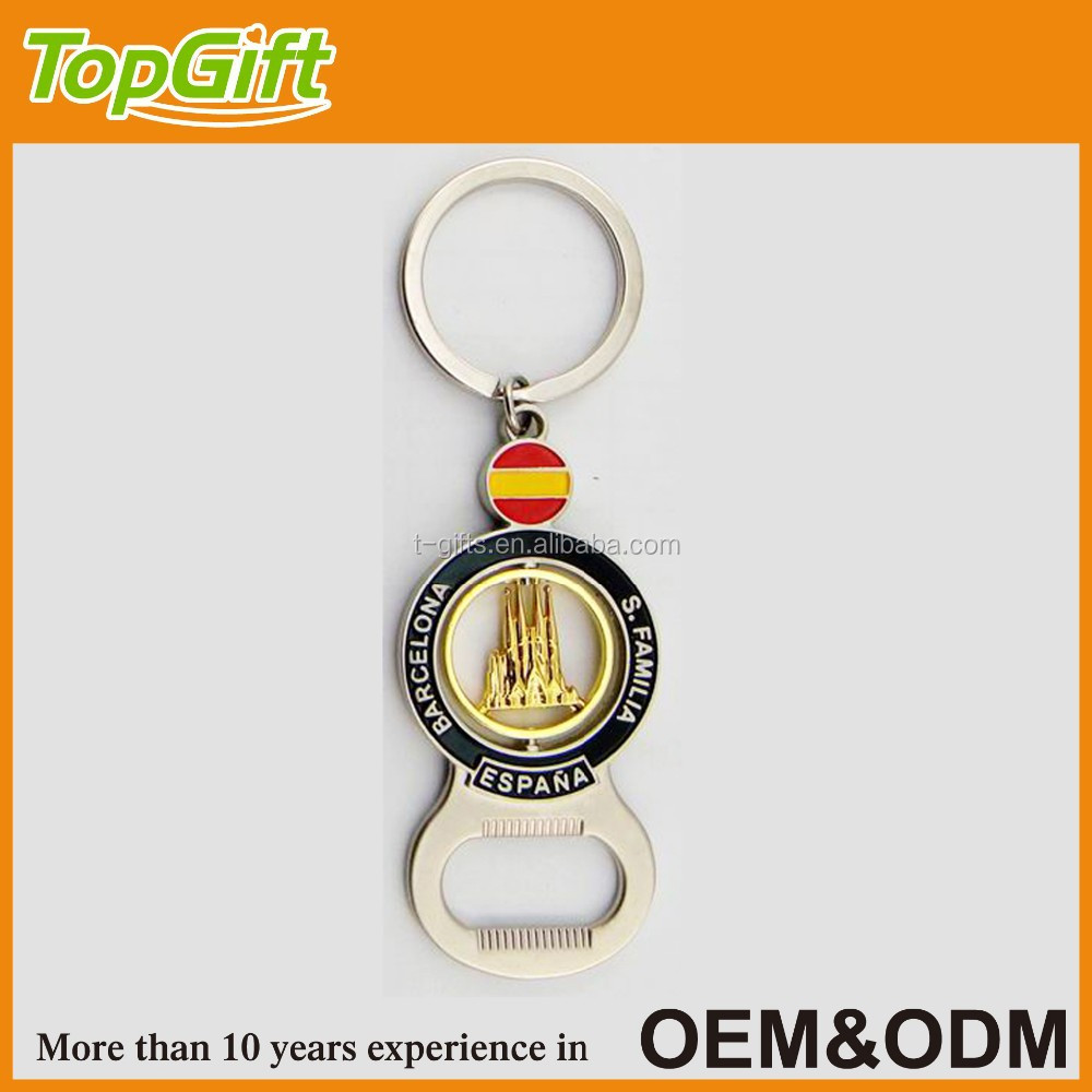 Barcelona souvenir keychain with bottle opener