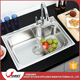Europe market standard kitchen crusher sink use liners single bowl portable sink