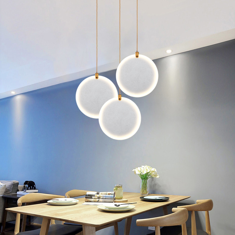 Natural Marble Pendant Light Modern Restaurant Villa Living Room Decoration Pendant Lamp Home Decor Lighting