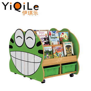 Kindergarten Cartoon Design Bookshelf Preschool Furniture Kids Combine