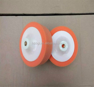 pva colorful plain polishing wheel for glass/pva sponge polishing wheel