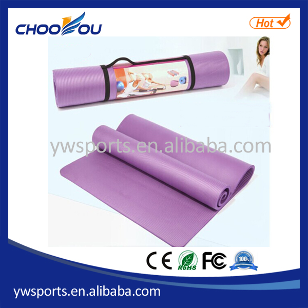 China Supplier Cheap Price Printing Logo NBR Foam Exercise/Yoga/Pilates Mat